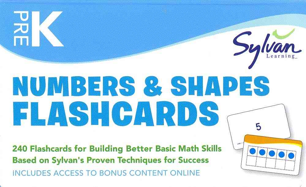 Pre-k Numbers & Shapes Flashcards By Sylvan Learning (COR)